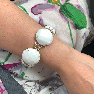 Kendra Scott White Cassie Bracelet